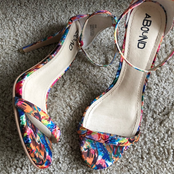 3faa3d4c1e3 Abound Shoes - Abound high heel colorful sandals size 8 so cute!